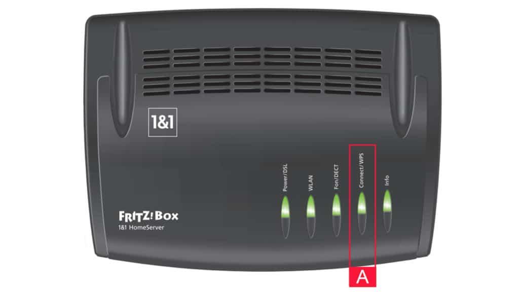 Geräte per WPS mit dem 1&1 Homeserver verbinden
